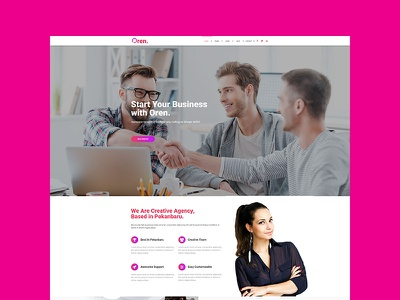 OREN - Responsive Multipurpose Adobe Muse Template responsive personal parallax multipurpose. photography gradient freelance creative studio corporate business agency adobe muse