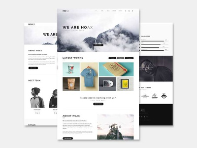 HOAX - Creative Multipurpose HTML Template website video responsive portfolio photography html elegant digital creative corporate business agency