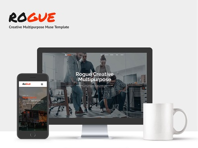 ROGUE - Creative Multi-purpose MUSE Template envato themeforest multipurpose creative web development uiux web design adobe muse
