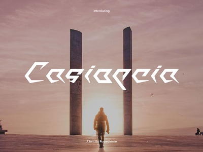 Casiopeia - Futuristic font modern typeface fiction science future futuristic tech font scifi