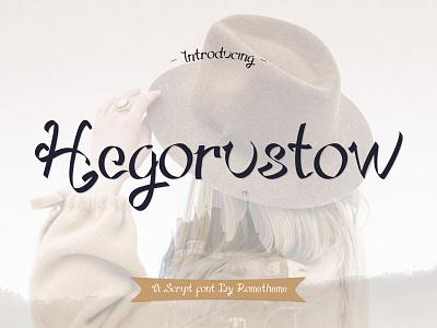 Hegorustow - Script Font wedding font watermark logo branding font script signature lettering handwritten