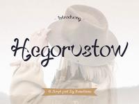 Hegorustow - Script Font