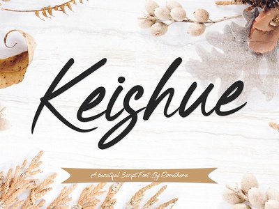 Keishue - Script font magazine wedding script typography lettering handmade font hand lettering calligraphy brush lettering brush font font