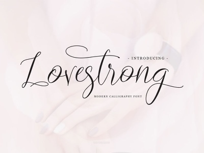 Lovestrong Script font (Free for personal use) handpicked freebie popular love font invitation wedding typeface font handwritting lettering romance script
