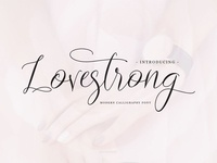 Lovestrong Script font (Free for personal use)