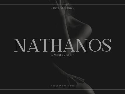 Nathanos - Serif Typeface header branding fashion poster website instagram serif elegant font typeface