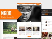 NGOO - Charity, Non-profit, PSD Template