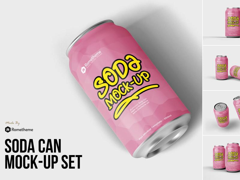 Soda can mockup vol.1