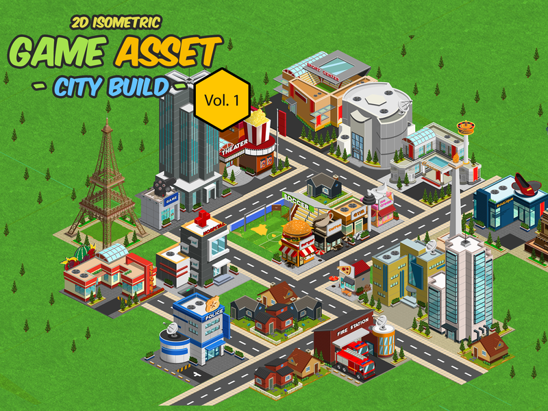 2D Isometric Game Asset - City Build Vol 1 by Yahdi romelo