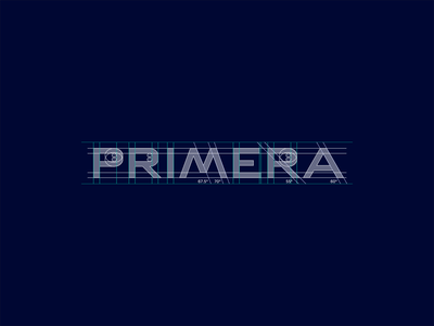 Primera wordmark construction vector minimalist bold font minimal custom typography custom type customtype branding logo design logo typography