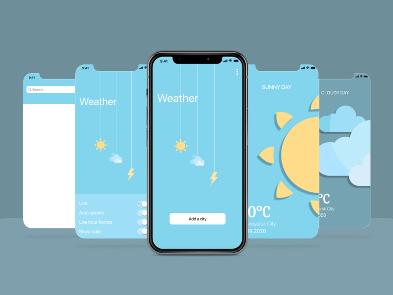 Weather App app minimal ux ui design