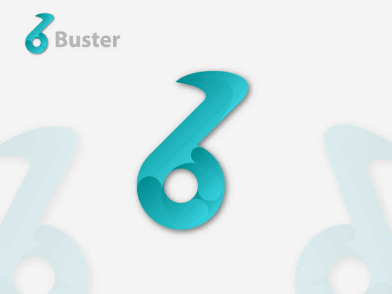 Buster logo Design with letter B vector typography organic modern logotype designer branding logo ios illustrator identity icon flat dribbble design creative app branding corporate booster letter b logo