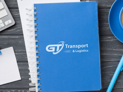 GT transport and Logistics identity typography creative logo illustration illustrator branding design flat transport logo transport