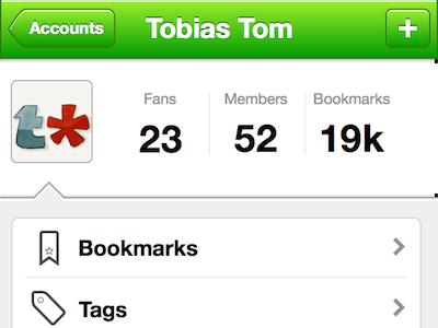 User Details tasty bookmark account details sketch.app