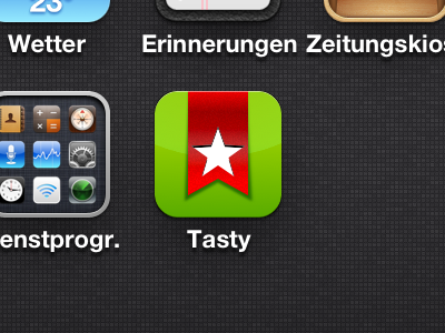 Tasty 2.0 Icon ios tasty bookmark application
