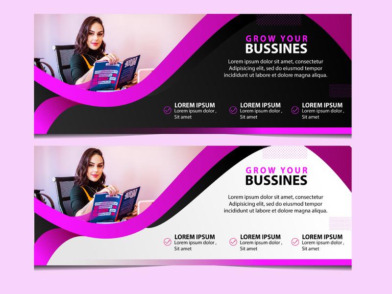Simple Web Banner Design banner web design web design branding