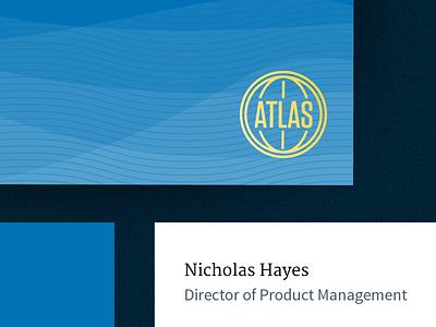 Corporate Identity Elements corp id atlas biz cards gold foil identity