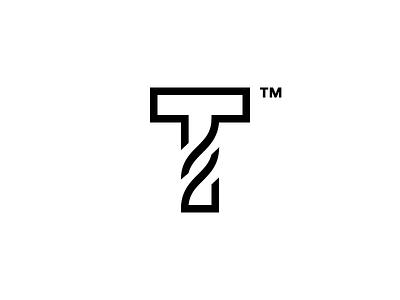 T Time logo identity t mark