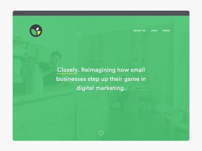 Closely Web identity web refresh brand logo