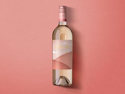 Rose Hill — Rosé illustration logo label design wine label design wine label wine typography bottleshot packaging label