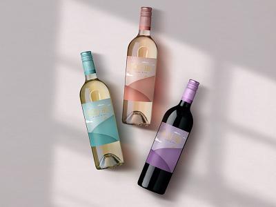 Rose Hill — Glamour Shot illustration logo label design wine label design wine label wine typography bottleshot packaging label