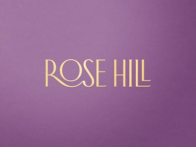 Rose Hill — Wordmark logotype wordmark wine label design wine label packaging label logo wine