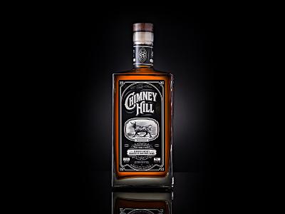 Chimney Hill Bourbon Whiskey label design branding whiskey label bourbon whiskey typography bottleshot packaging label