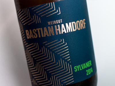 Weingut Bastian Hamdorf Sylvaner 2014 wine label typography packaging bottleshot label wine wine label design