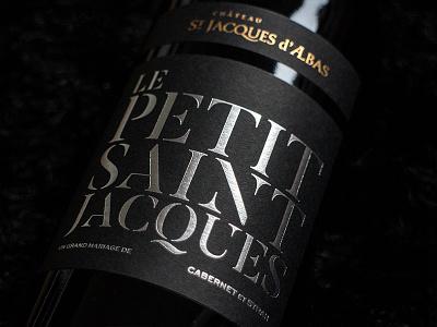 Chateau St Jacques d'Albas - Le Petit Saint Jacques wine label typography packaging bottleshot label wine wine label design