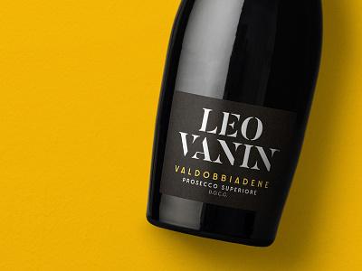 Leo Vanin Prosecco wine label design wine label italy prosecco wine typography packaging label bottleshot