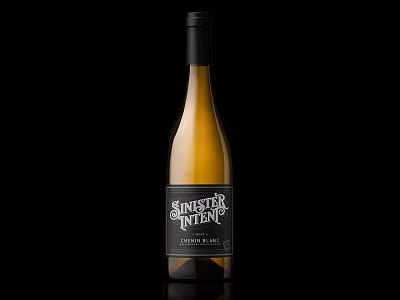 Sinister Intent wine label design wine label wine typography packaging label bottleshot