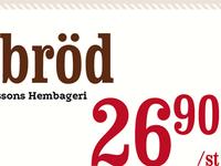 Bread Shelf Price Tag