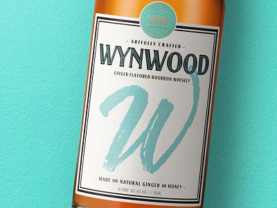 Wynwood Whiskey branding bourbon whiskey typogaphy label design whisky typography bottleshot packaging label