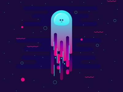 jellyfish jellyfish underwater vector illustrator illustration
