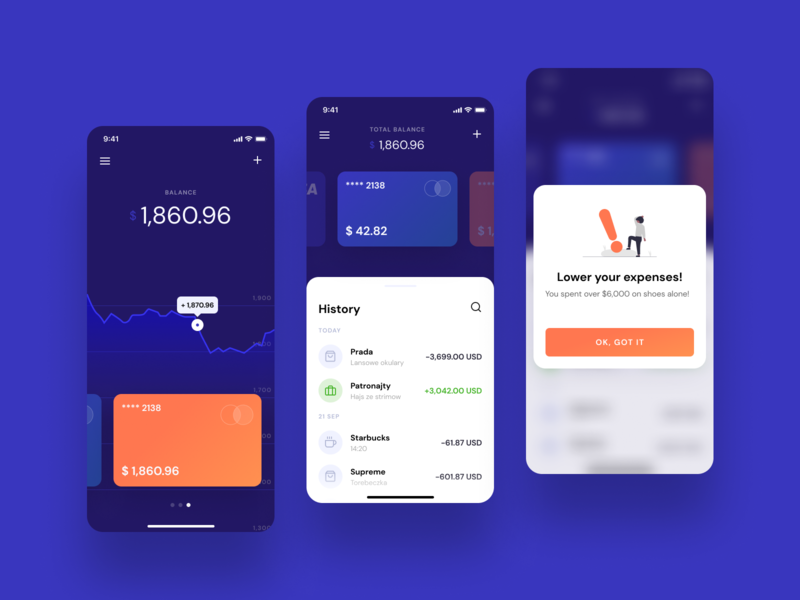 Finance app illustration transaction finance