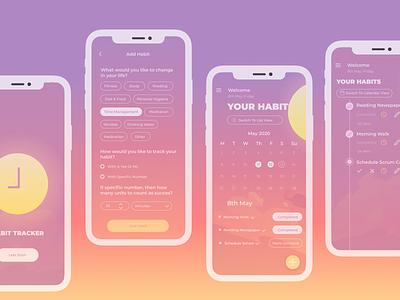 Habit Tracker App Concept ui minimal design app