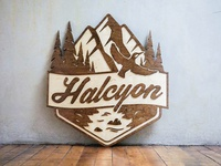 Halcyon Logo Wooden Sign