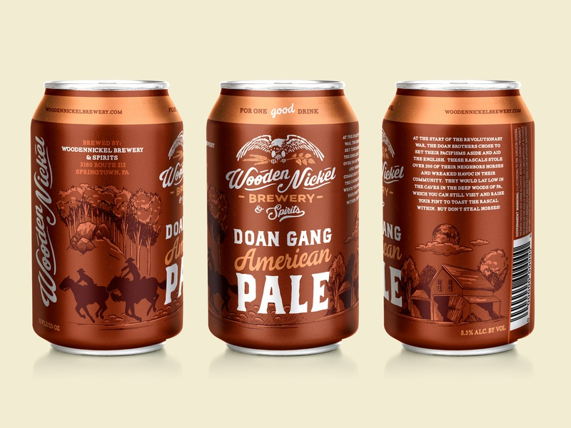 Wooden Nickel Brewing Doan Gang American Pale By Nathan Brown On