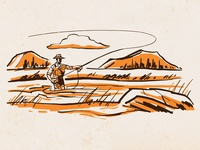 Wilderness Spot Art - Fly Fisher