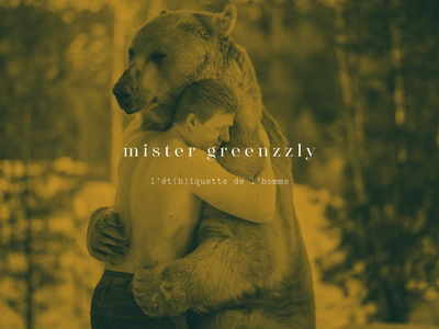Logo - Mister Greenzzly model collection drawing man bamboo nature friendship photo logotype underwear logo lingerie illustration grizzly graphic fashion design branding brand bear