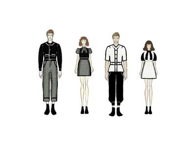 Fashion Illustration flat minimal illustration design