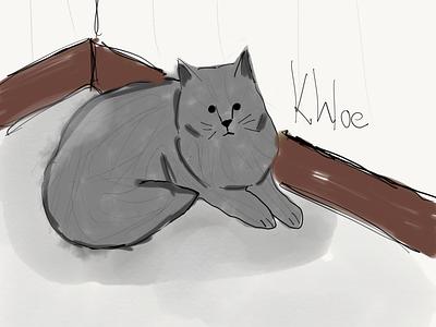 Khloe flat illustration design