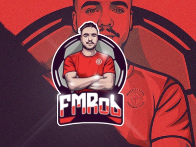 "Mascot Logo Portrait ""FMRob"" twitch logo design logo youtubegaming mascotlogo twitch streamer gaming"