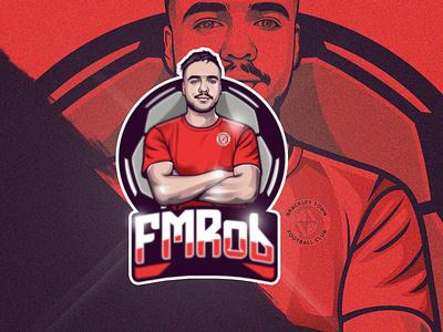 "Mascot Logo Portrait ""FMRob"" twitch logo design logo youtubegaming mascotlogo twitch streamer gaming"