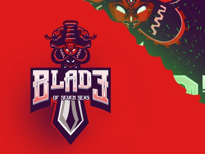 "Mascot Logo Esport ""Blade of Seven Seas"" blade twitch design facebookgaming logo mascotlogo gaming streamer"