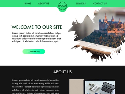 SIMPLE WEBSITE DESIGN website design web typography ux vector ui illustration graphicdesign branding design