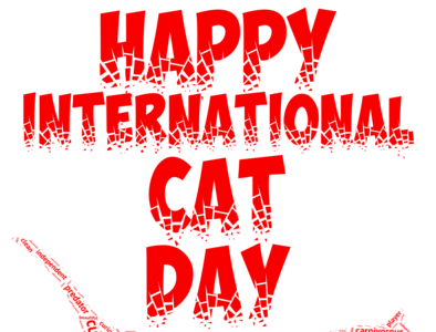 Happy international cat day graphic design icon illustrator animation vector typography logo design illustration animal happy cat
