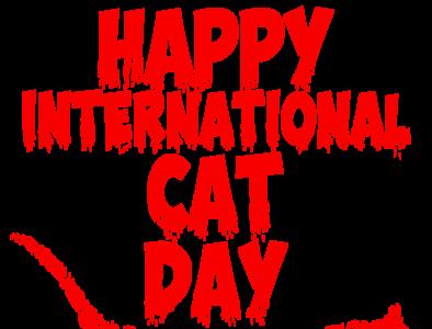 Happy international cat day graphic design icon illustrator animation vector typography logo design illustration animal happy cat