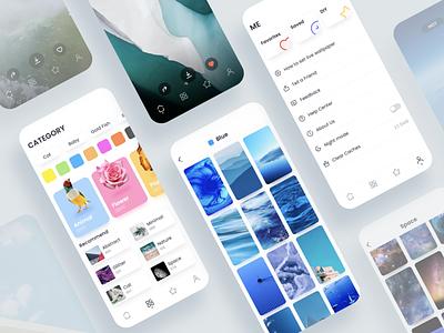 Live Wallpaper Gallery UI Design wallpaper app design sketch ui