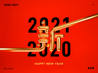 Happy New Year 2021 blender 2021 new happy design 3d
